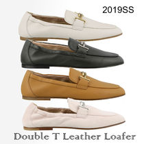 19SS新色 TOD'S★DoubleT レザーローファー 関税/送料込