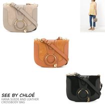 VIP価格!See by Chloe HANA SUEDE AND LEATHER CROSSBODY BAG♪