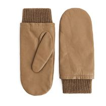 """ARKET(アーケット) 手袋 """"ARKET"""" Cashmere-Lined Leather Mittens Beige"""
