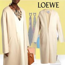 【18AW】LOEWE★Collarless V-neck coat