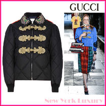 GUCCI★グッチ★素敵!RUNWAY BlackDown QUILTED PUFFER JACKET