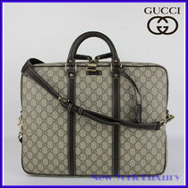 GUCCI★グッチ★素敵!Beige/Ebony Coated Canvas Briefcase