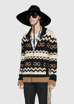 GUCCI Wool jacket with mirrored GG ウールジャケット