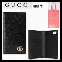 GUCCI【iPhone ケース7/ 8 】GG Marmont レザー 追跡付