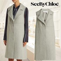【18AW】★SEE BY CHLOE★City wool-blend sleeveless coat