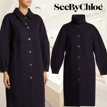 【18AW】★SEE BY CHLOE★City wool-blend overcoat