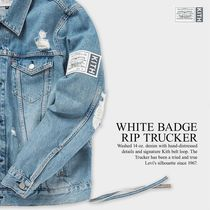 日本未発売!【KITH × Levi's】WHITE BADGE RIP TRUCKER
