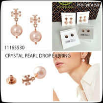 即発 Tory Burch★CRYSTAL PEARL DROP EARRING ピアス*可愛い