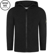 Black Knitted Zip Up Top