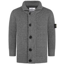 Boys Charcoal Knitted Cardigan