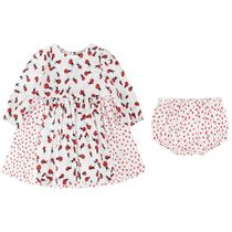 Baby Girls Ladybug Print Dress With Knickers