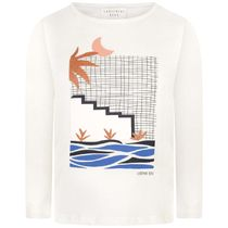 CARREMENT BEAU(キャレマン ボー) キッズ用トップス Girls Ivory Illustrated Jersey Top