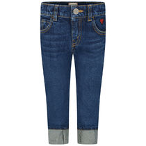 Girls Blue Turn Up Jeans