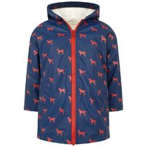hatley(ハットレイ) キッズアウター Navy & Red Labs Sherpa Lined Splash Jacket