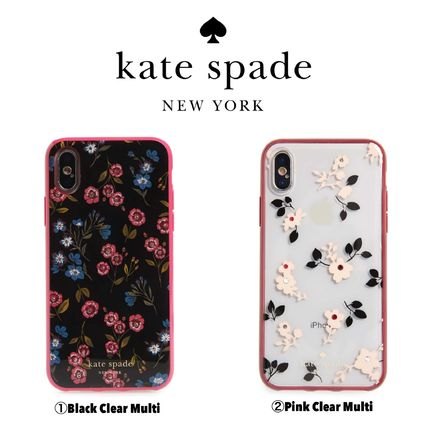 kate spade new york スマホケース・テックアクセサリー 【Kate Spade New York】jeweled meadow iPhone X & Xs case