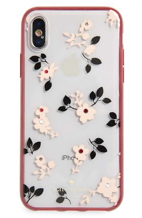 kate spade new york スマホケース・テックアクセサリー 【Kate Spade New York】jeweled meadow iPhone X & Xs case(4)