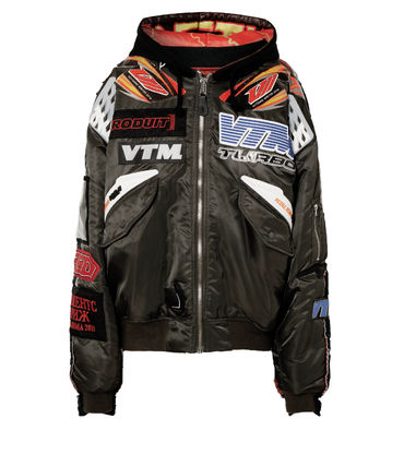 VETEMENTS  Hooded bomber jacket( 送料・関税込)必見セール