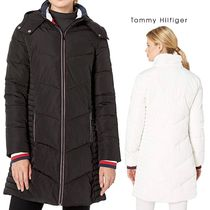 【Tommy Hilfiger】 Long Chevron Quilted Puffer Coat 2色