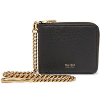 Full-Grain Leather Zip-Around Chain Wallet レザー財布