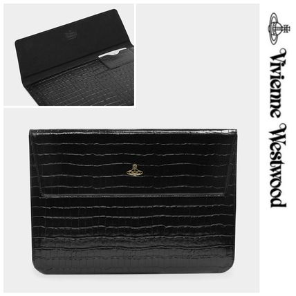 Vivienne Westwood スマホケース・テックアクセサリー UK発☆Vivienne Westwood☆MacBook Case 13 Black Croc
