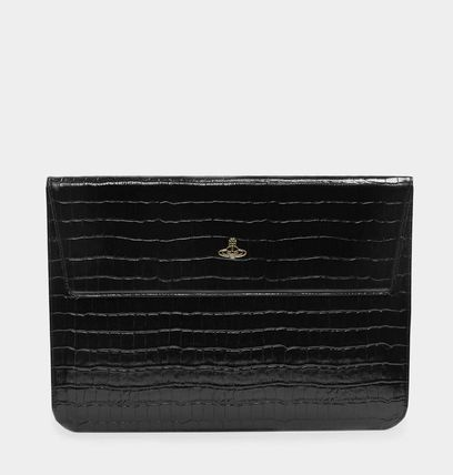 Vivienne Westwood スマホケース・テックアクセサリー UK発☆Vivienne Westwood☆MacBook Case 13 Black Croc(2)