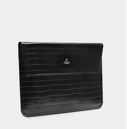 Vivienne Westwood スマホケース・テックアクセサリー UK発☆Vivienne Westwood☆MacBook Case 13 Black Croc(3)