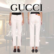 VIP価格【Gucci】Web flare denim cotton trousers 関税込