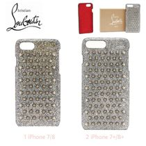 セレブ愛用★Studs【送込Christian Louboutin】iPhone 7-8+★銀
