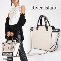 ◆NEW◆River island◆ スネーク プリント 2way トート バッグ
