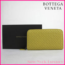 BOTTEGA VENETA★Yellow Leather Intercciaco Zip Around Wallet