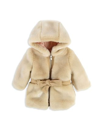 50%OFF *SALE* Chloe Girls' Faux Fur Hooded Coat