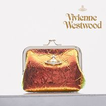UK発*Vivienne Westwood* 本革ARCHIVEメタリックがま口財布