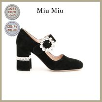 2018-19秋冬MIU MIU mary janes with crystals