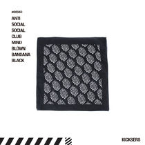 人気話題!ANTISOCIALSOCIALCLUB MIND BLOWN BANDANA BLACK