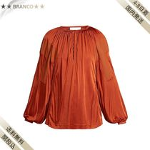 最終SALE▼Balloon-sleeve satin top