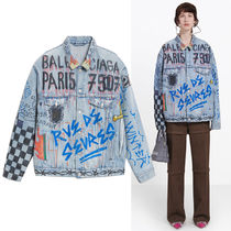 VIPセール!関税込☆【BALENCIAGA】Graffiti Denim Jacket
