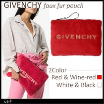 GIVENCHY faux fur pouch ジバンシィ フェイクファー ポーチ
