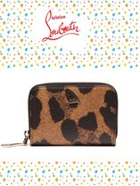 Christian Louboutin/Panettone leopard-print leather 小銭入れ