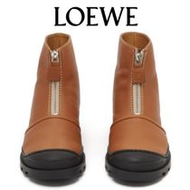 【19SS】★LOEWE★Zip-front leather ankle boots