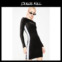 関税/送料込 *DOLLS KILL*MAKE YOU SWEAT VELOUR DRESS