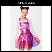 関税/送料込 *DOLLS KILL*CANDY GURL HOLOGRAM OVERALL DRESS