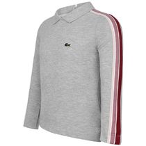 LACOSTE(ラコステ) キッズ用トップス Girls Grey Long Sleeve Pique Cotton Top