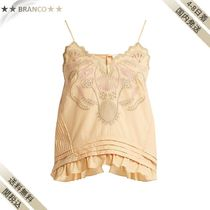 最終SALE▼Embroideredコットン voile camisole top
