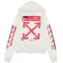 【Off-White】DIAG STENCIL ZIPPED HOODIE OWH OMBE001R19003015