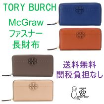 【Tory Burch】T-logo zip around wallet【送料関税負担なし】