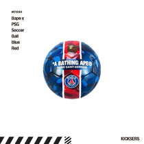 人気話題!Bape x PSG Pari Saint Germain Soccer Ball Blue/Red
