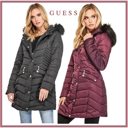 Guess RONNA LONGLINE QUILTED PUFFER COAT ダウンジャケット