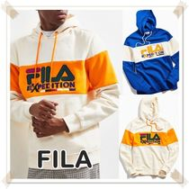FILA UO 限定! Expedition カラーブロック ロゴ パーカー 2色