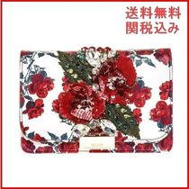 GEDEBE(ゲデべ) クラッチバッグ GEDEBE LEATHER ROSES PRINT CLUTCH クラッチバッグ レディース