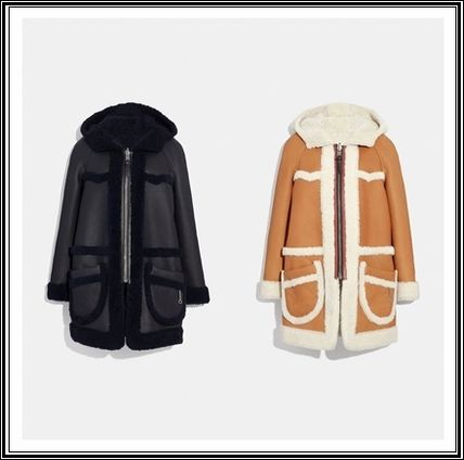 セール coach Reversible Shearling Parka 38512